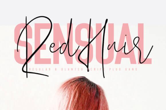 Red Hair Sensual Duo Font
