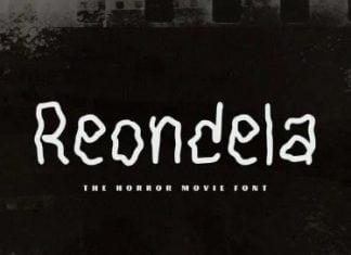 Reondela The Horror Movie Font