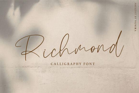 Richmond Calligraphy Font