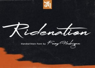 Ridenation - Handwritten Font