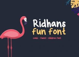 Ridhans Font
