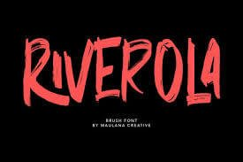 Riverola Brush Font
