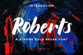 Roberts Strong Bold Brush Script