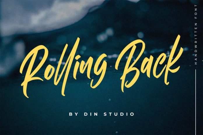 Rolling Back- Casual Font