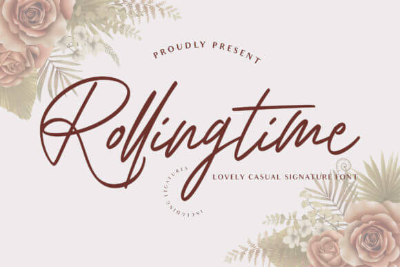 Rolling Time Font
