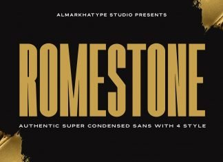 Romestone - Super Condensed Sans Font
