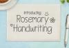 Rosemary Handwriting Font