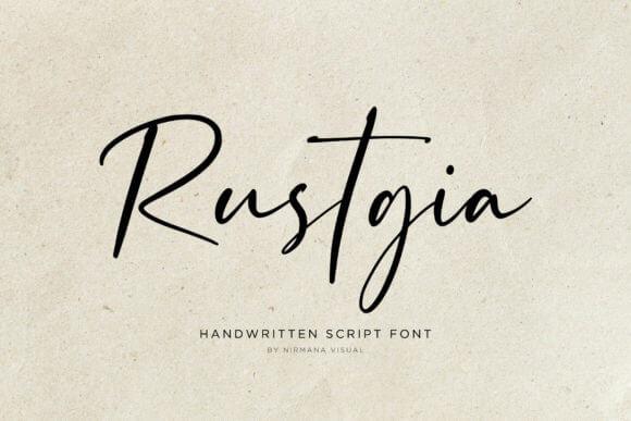 Rustgia Font