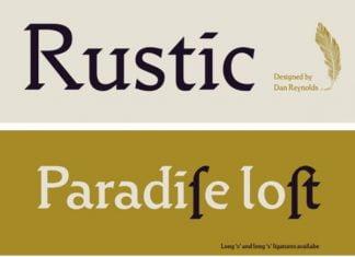 Rustik family Font