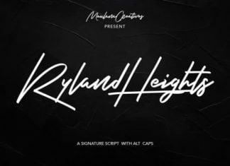 Ryland Heights Font