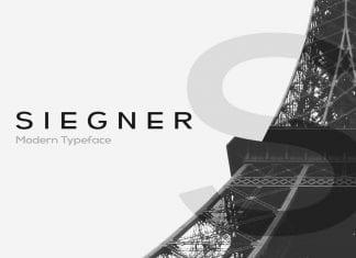 SIEGNER Modern Typeface WebFonts Font