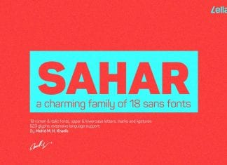Sahar Sans Family Font
