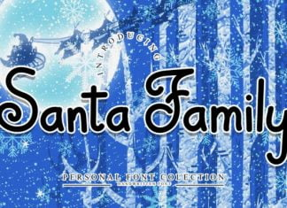 Santa Family Font