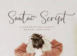 Santai Script Font