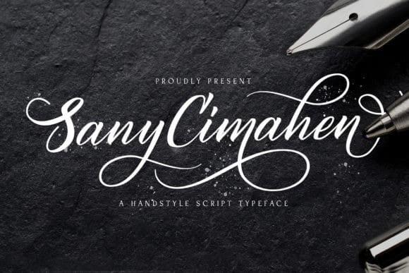 Sany Cimahen - Handwritten Font