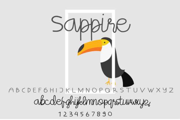 Sappire Font