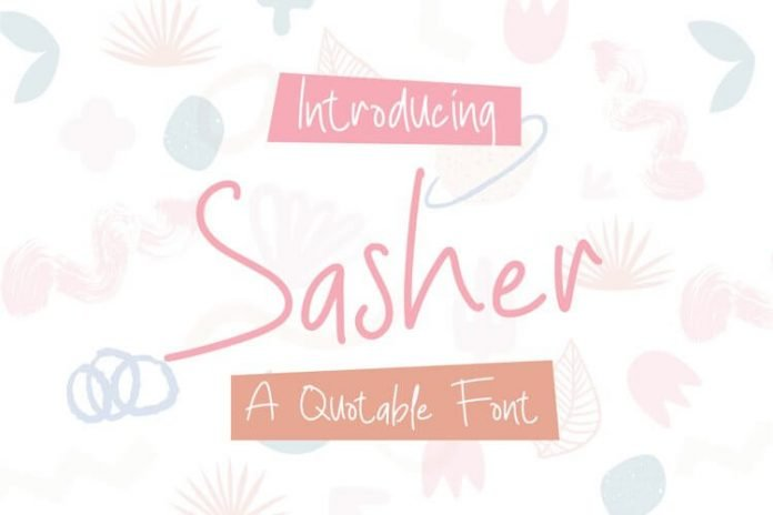 Sasher - A Quotable Font