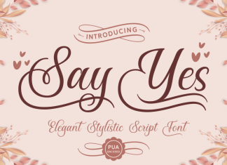 Say Yes Font