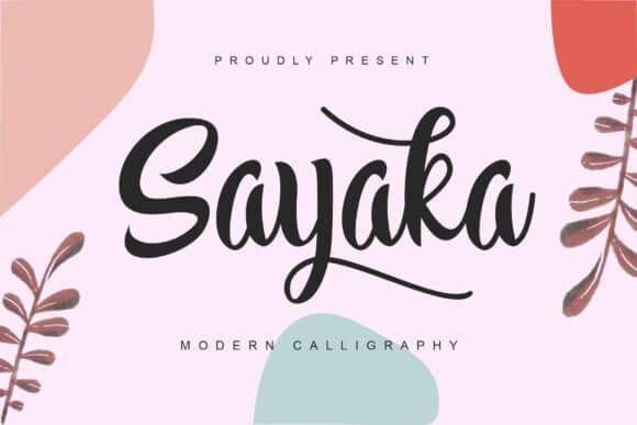 Sayaka Font