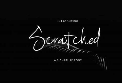 Scratched Font