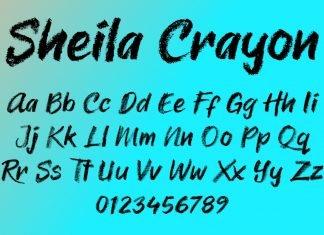Sheila Crayon Font