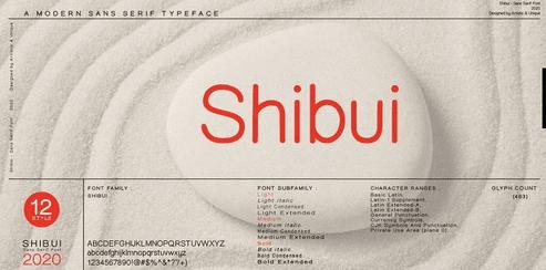 Shibui Font Family