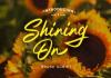 Shining On Font