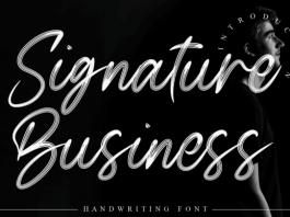 Signature Business Font