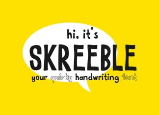 Skreeble - A Fun Sans Serif Font With Quirky Shape