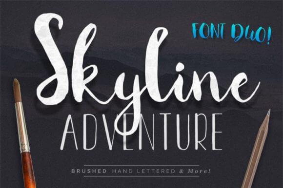 Skyline Adventure Duo Font