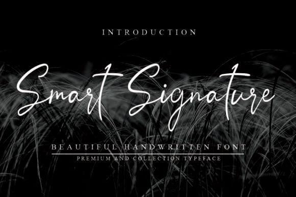 Smart Signature Font