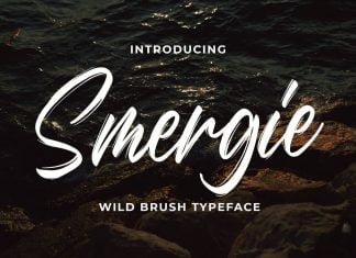 Smergie - Wild Brush Typeface Font
