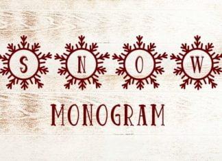 Snow Monogram Font