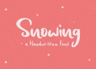 Snowing - Handwritten Font