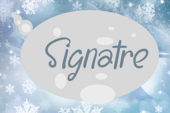 Snowshoes - Elegant Handwritten Font