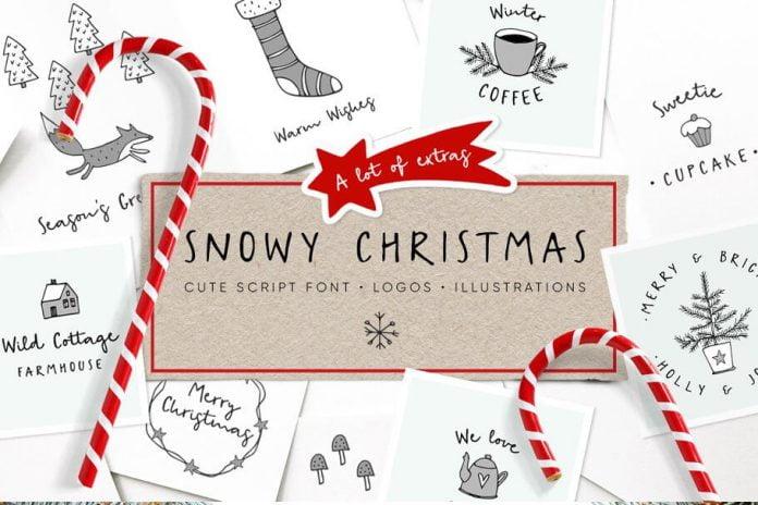 Snowy Christmas script font