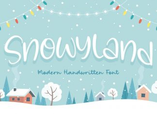 Snowyland Handwriting Font