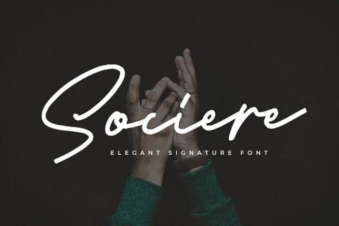 Sociere - Elegant Signature Font