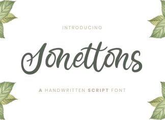 Sonettons Handwritten Script