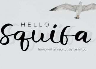 Squifa - Handwritten Font