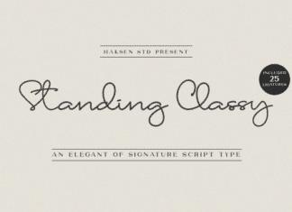 Standing Classy Font