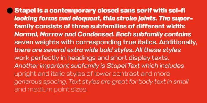 Stapel Font Family