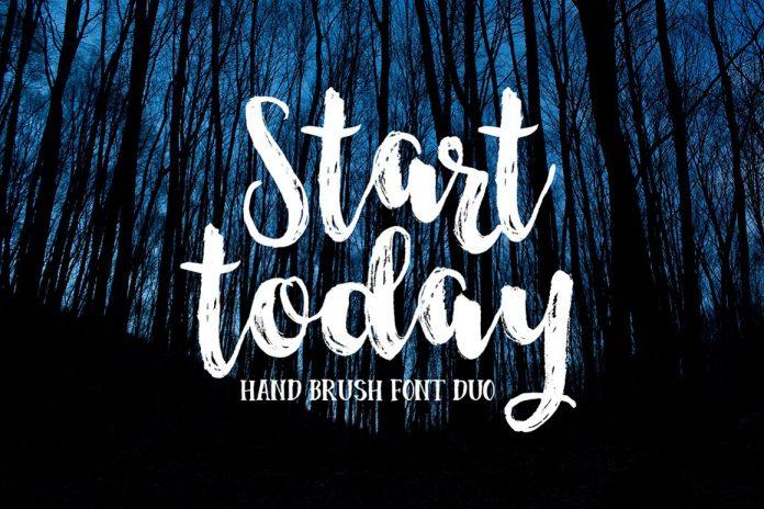 Start Today Brush Font