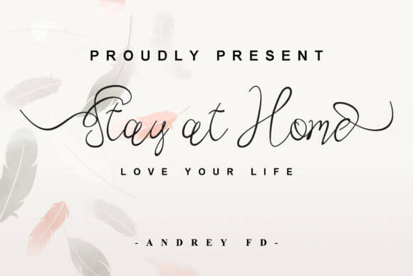 Stay at Home Font