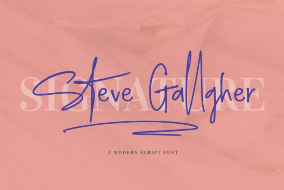 Steve Gallagher Font