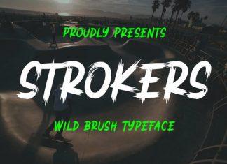 Strokers - Wild Brush Typeface