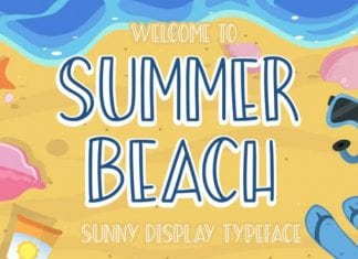 Summer Beach Sunny Display Typeface