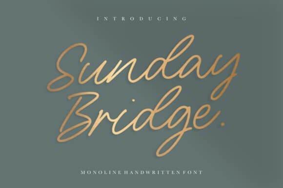 Sunday Bridge Script Font