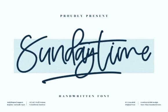 Sundaytime Font