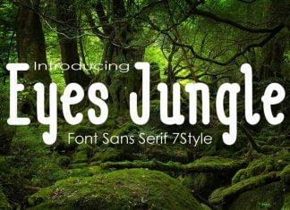Eyes Jugle Fonts Family